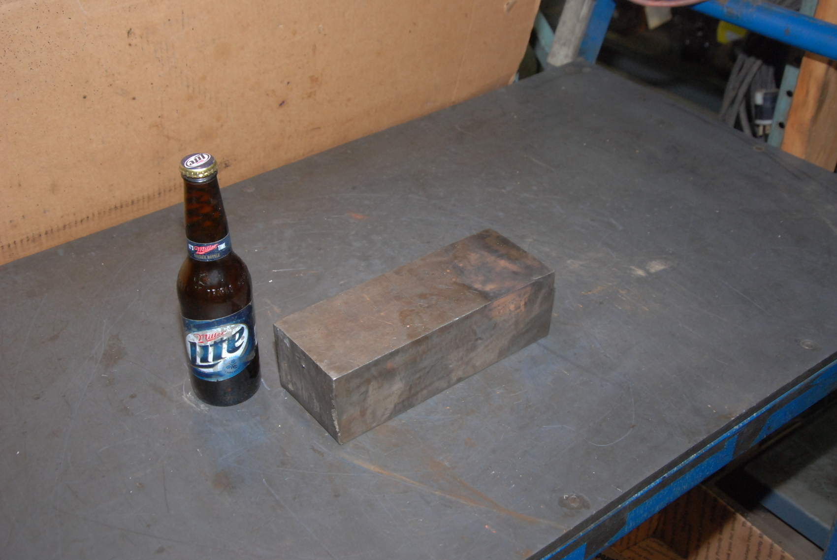 STEEL RECTANGULAR SQUARE BAR 29 LBS 9.5 x 3.5 x 3