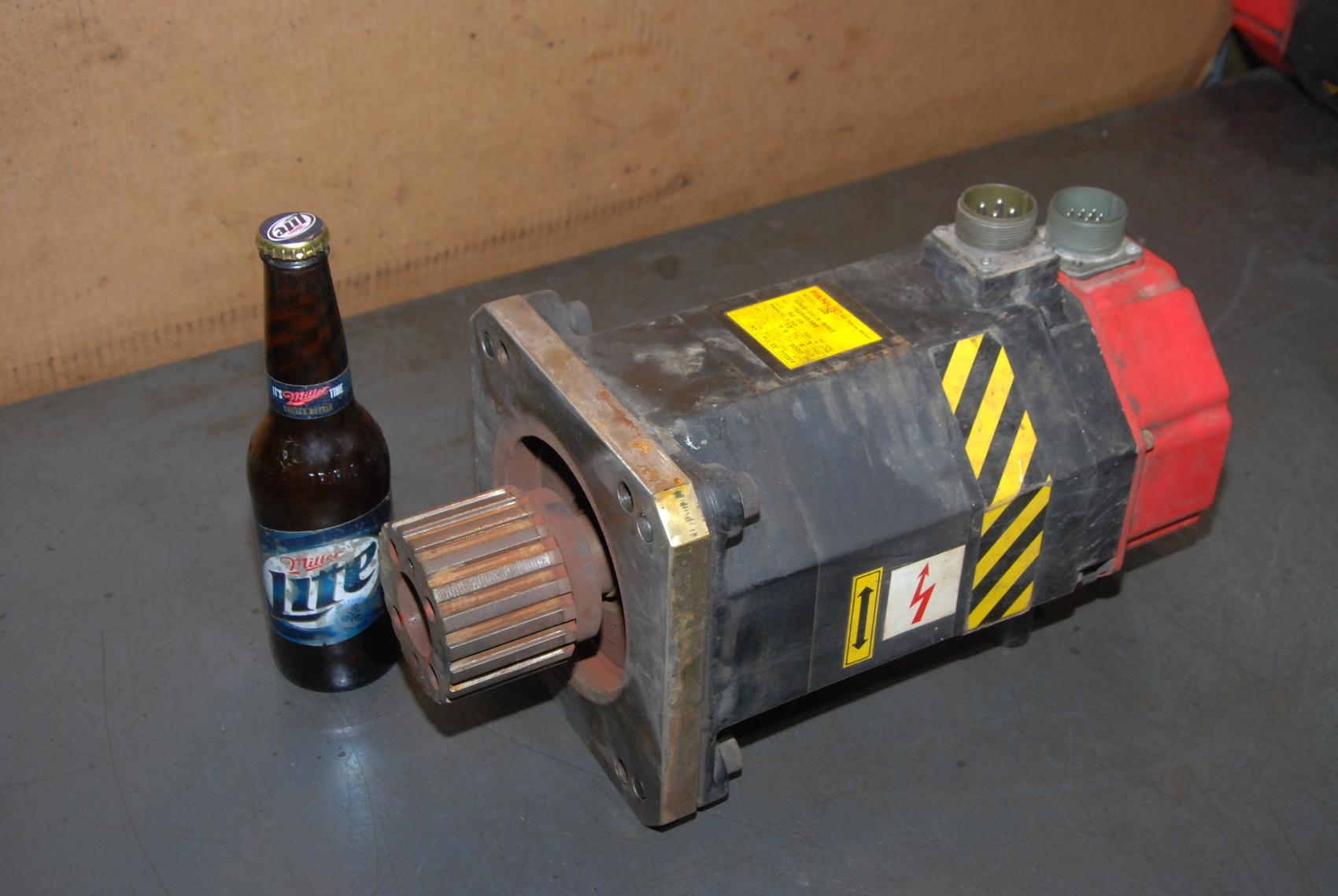 fanuc red cap ac servo motor model 10s a06b-0315-b063
