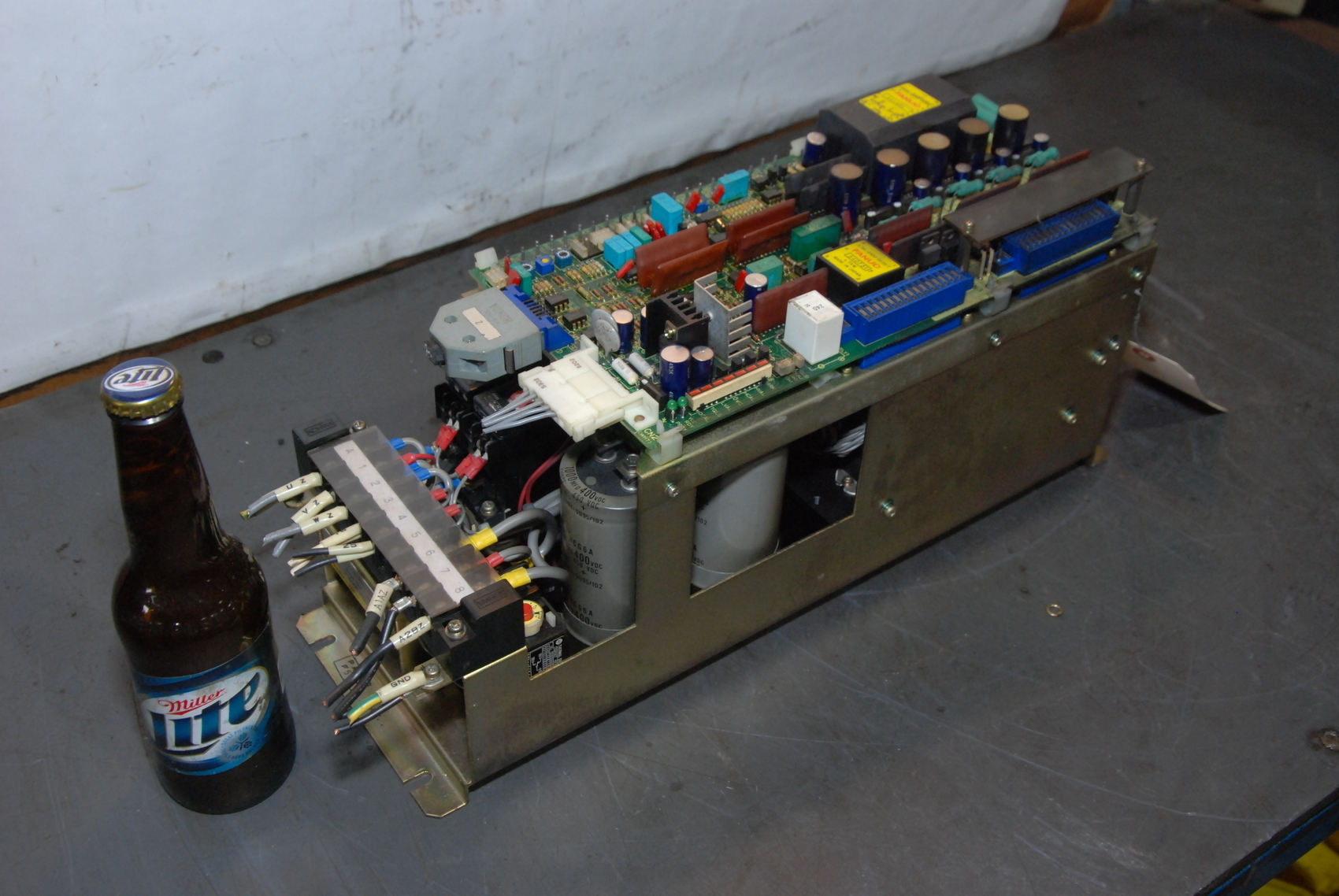 WORKS GREAT!VIDEO!FANUC VELOCITY CONTROL UNIT A06B-6047-H040