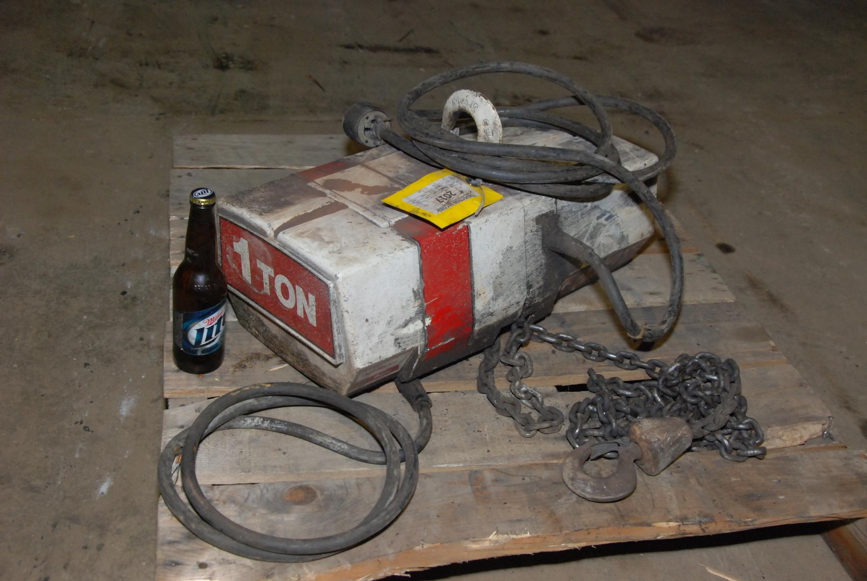 1 TON COFFING ELECTRIC CHAIN HOIST