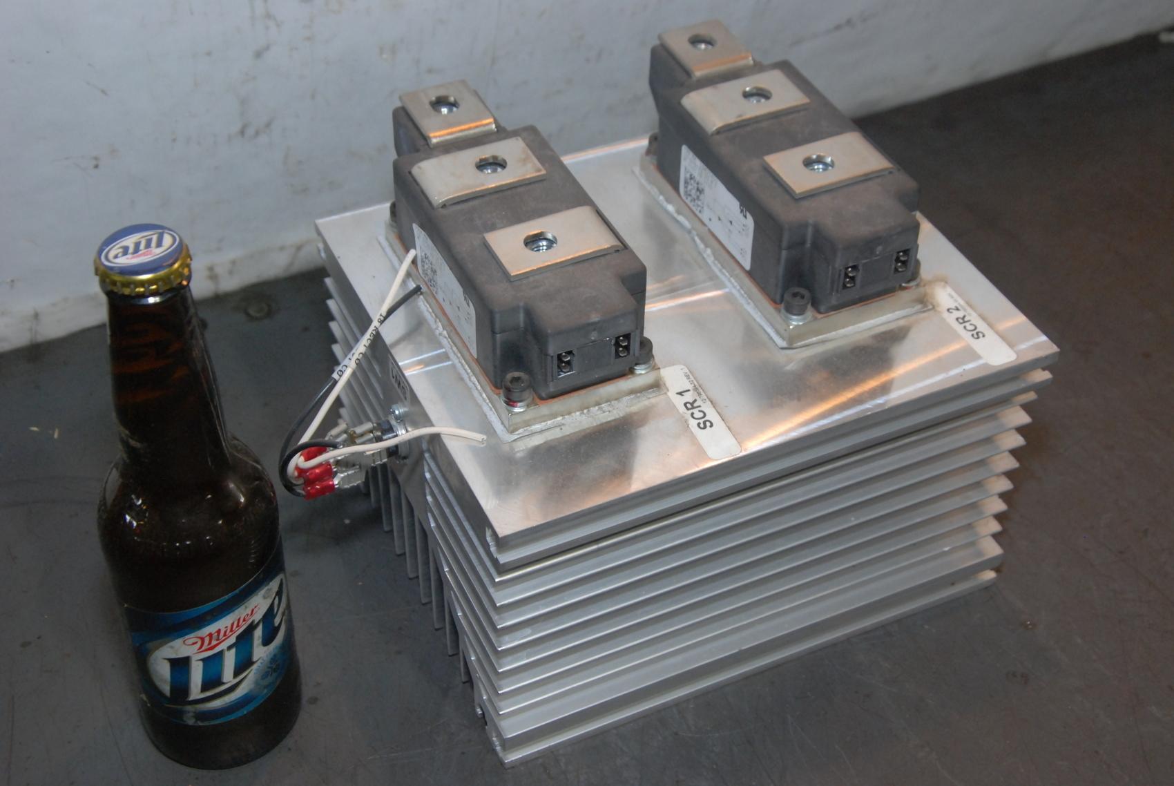2X POWEREX PRX LD431450 SCR POWER MODULE and huge heatsink