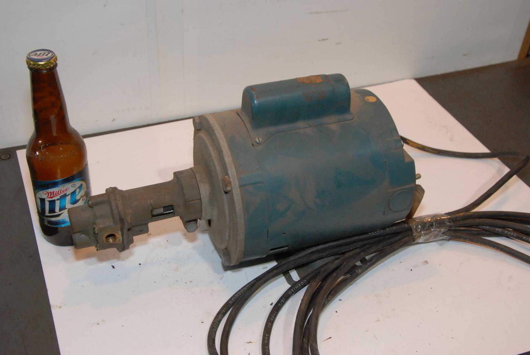 Reliance single phase E54825 1/4HP 1PH 115/230 bronze pump carbonator