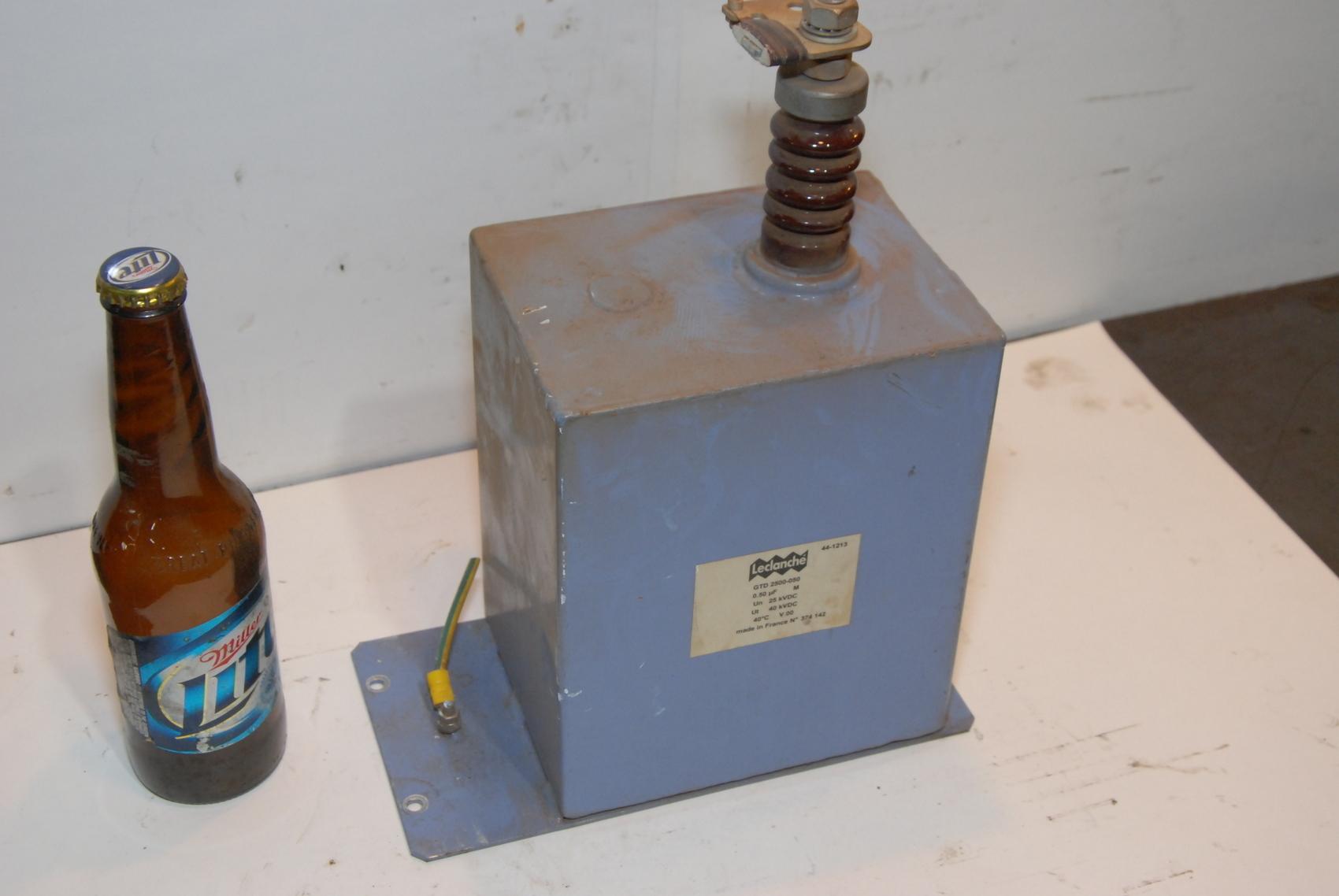 high voltage CapaCitor LECLANCHE GTD2500-050 25kV 0.5uF kvdc