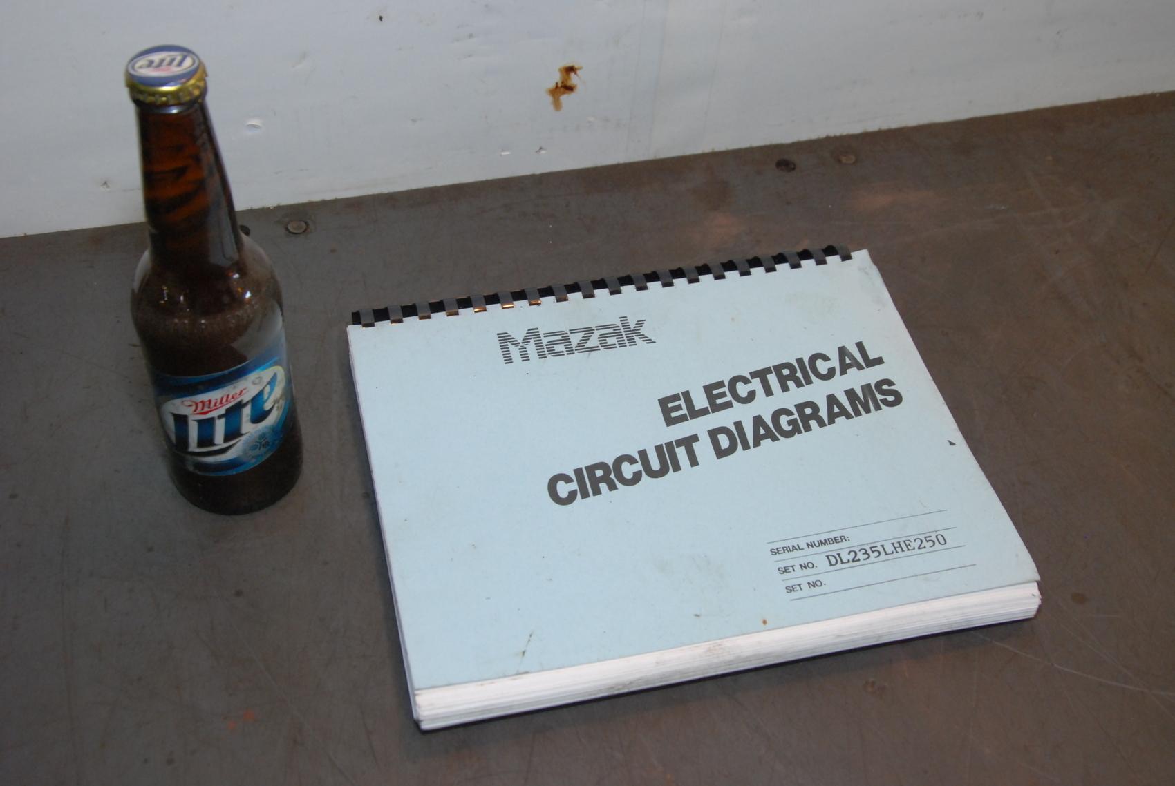 Mazak Electrical Circuit Diagrams,Set:DL235LHE250