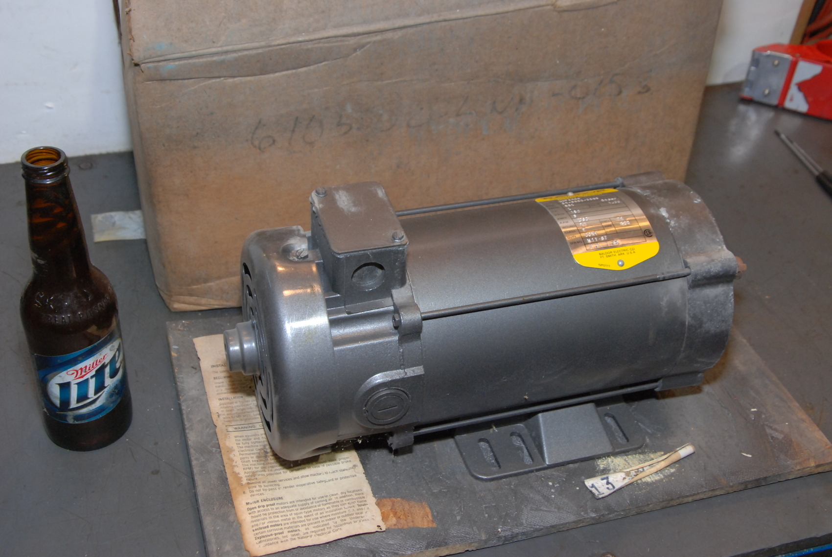 NEW Baldor industrial motor CDP3455,1hp,1750 rpm,180V