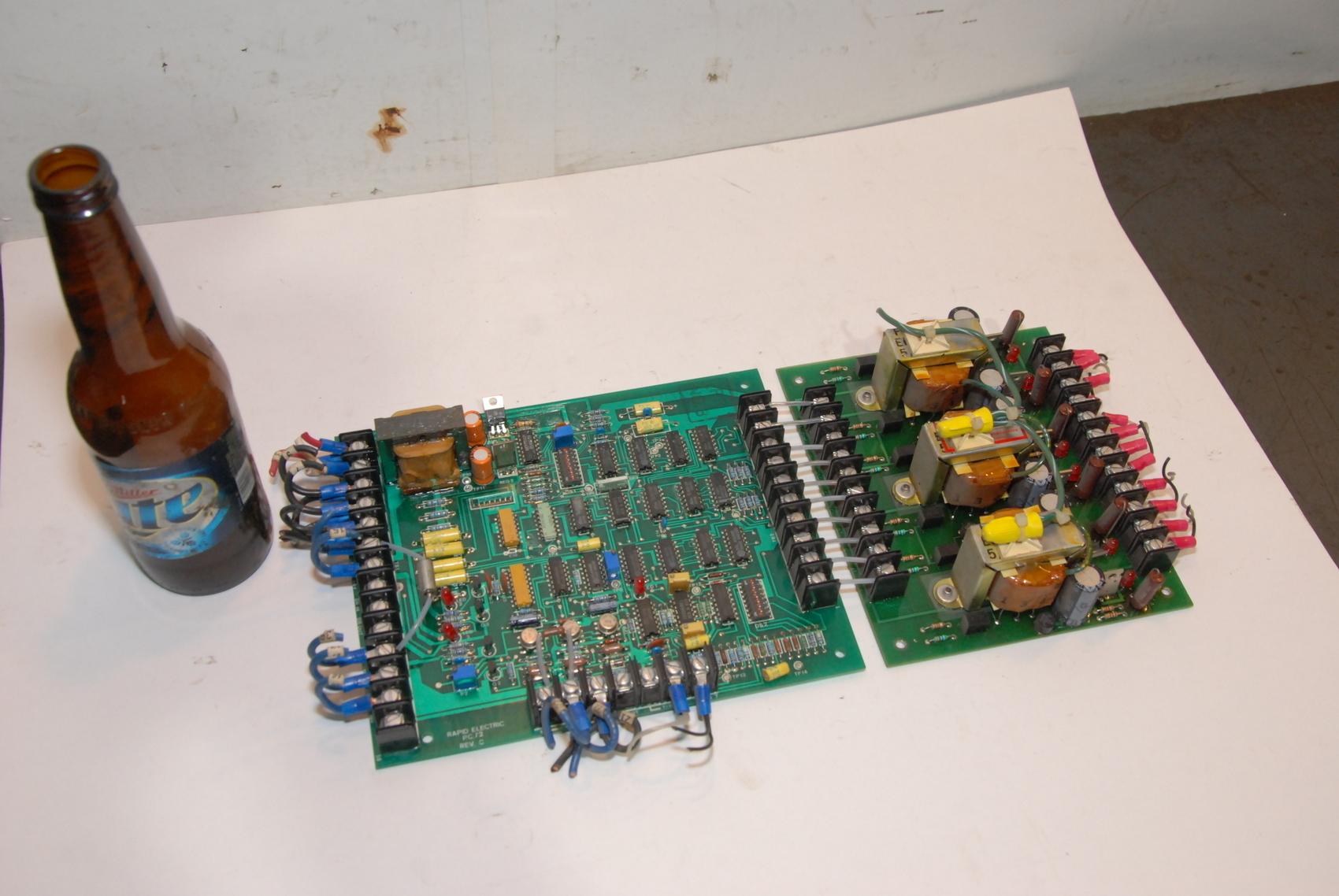 Rapid Electric PC72 REV C Circuit Board W/PC75 Circuit Board