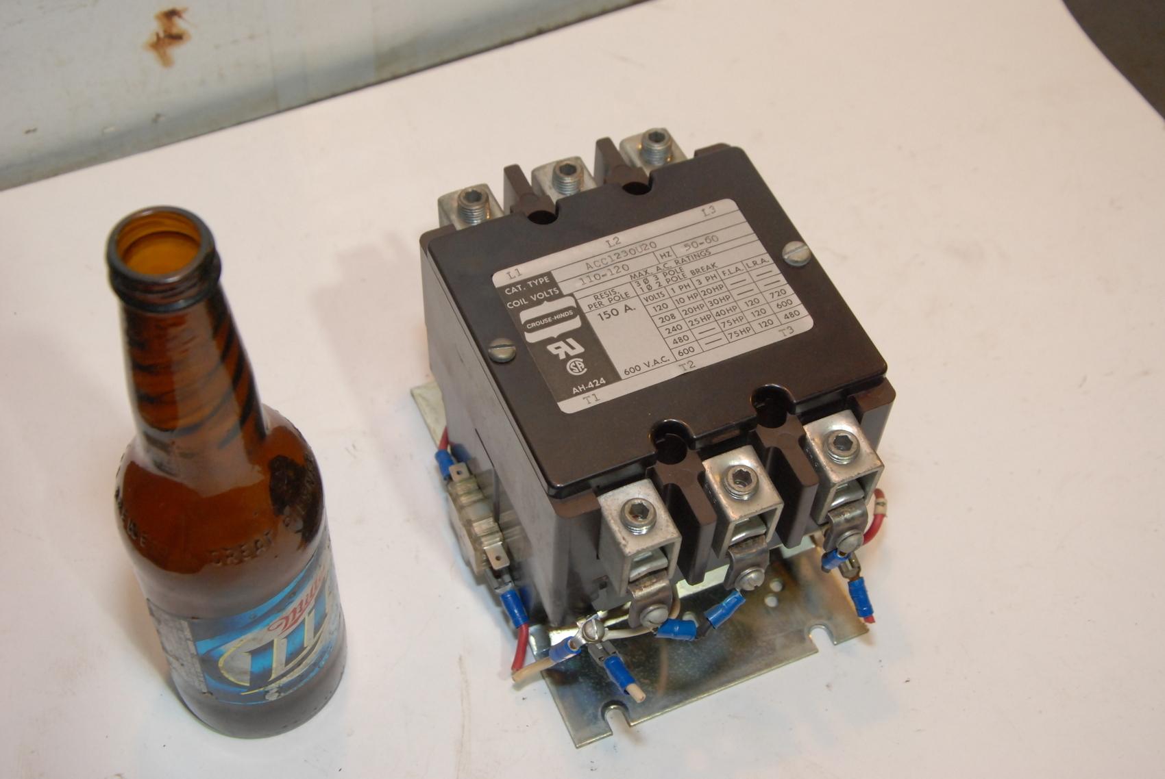 ACC123OU20 Arrow Hart Contactor 150A 600V