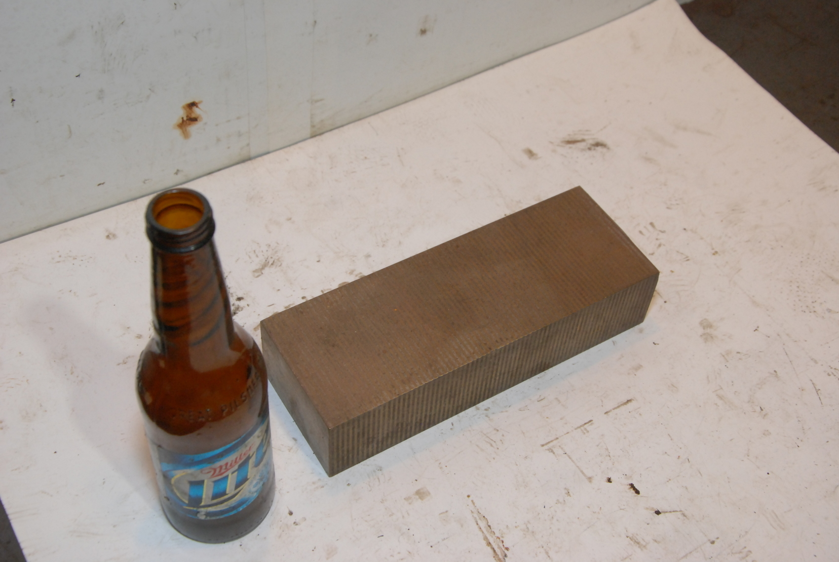 Steel Rectangular Bar for blacksmith anvil,9*3 1/4*2,17lbs