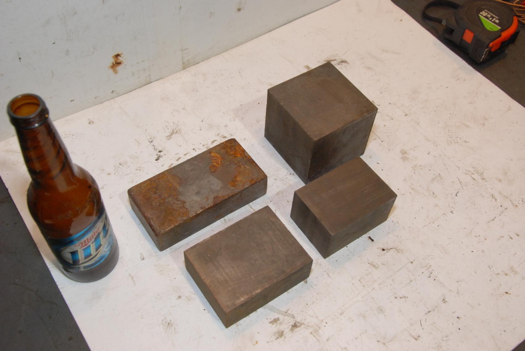Lot of 4 Steel Rectangular Bar for blacksmith anvil,27lbs