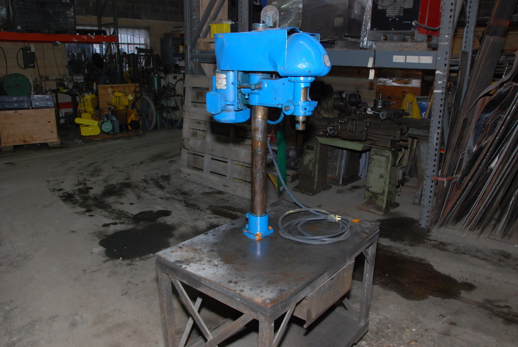 Delta Rockwell Drill Press,on cart,1PHASE,115/230V,W/Table 36*24*30