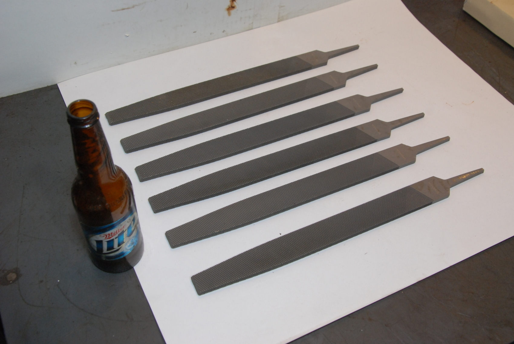 Lot of 6,14in Flat Coarse Foundry File,350mm