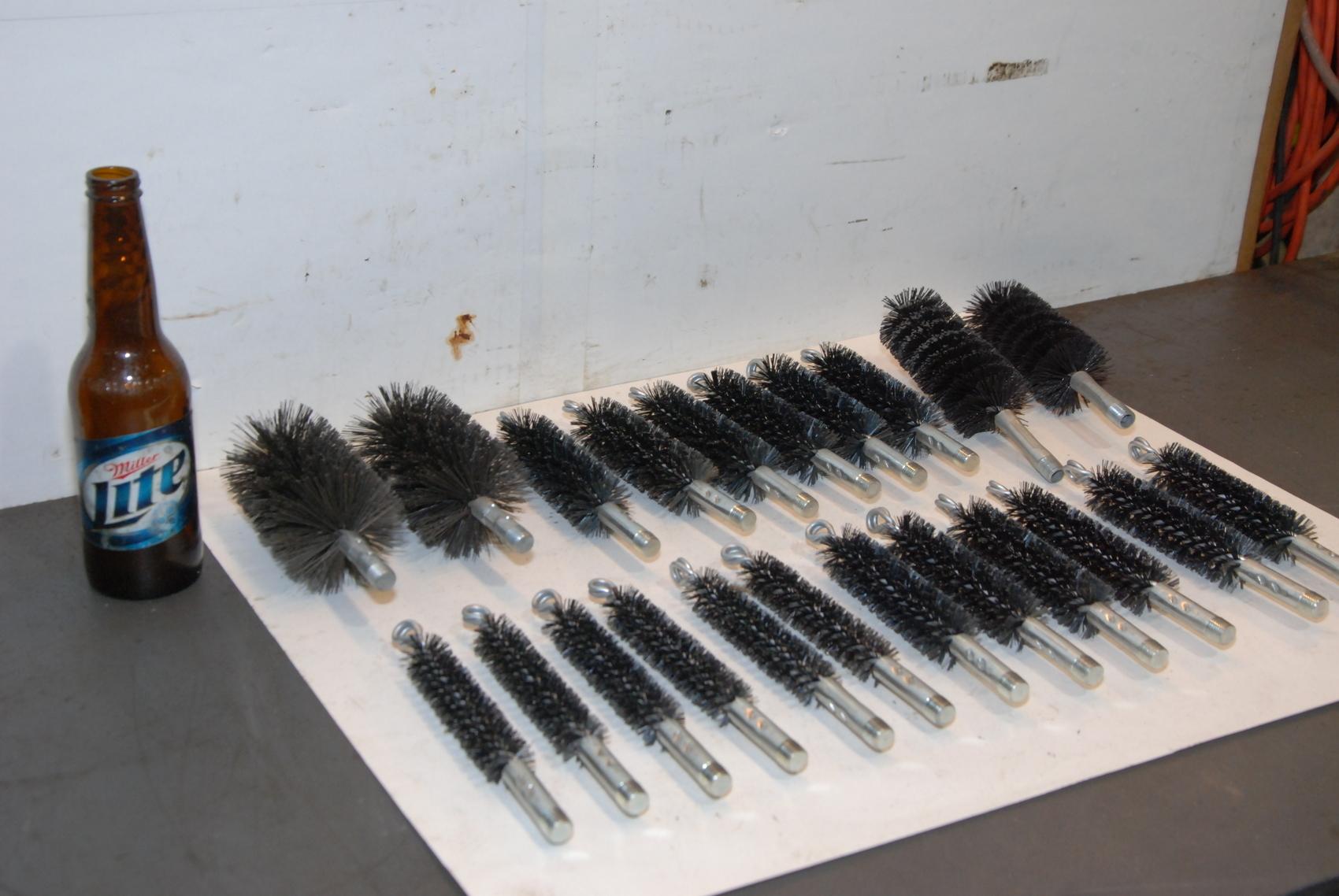 Lot of 22 Weiler Flue Brush 4,5in 012 Steel Wire
