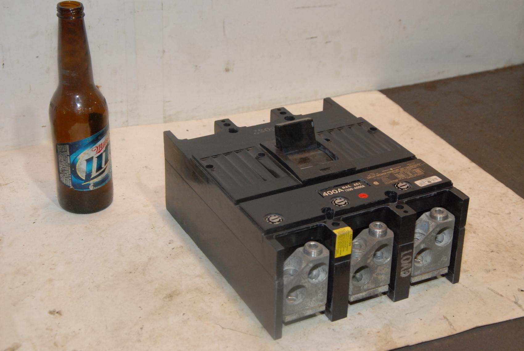 GE 600 AMP CIRCUIT BREAKER 600 VAC 3 POLE TJK636F000