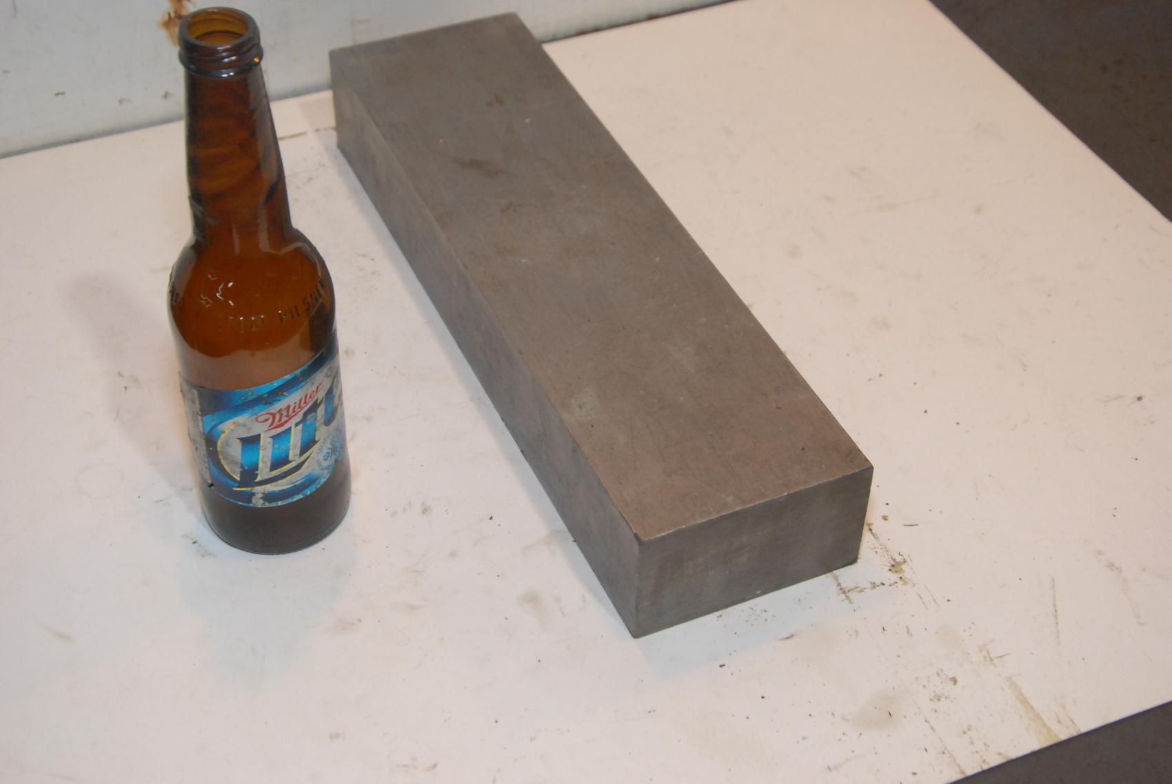 Steel Rectangular Bar for blacksmith anvil,14*4*2,35lbs