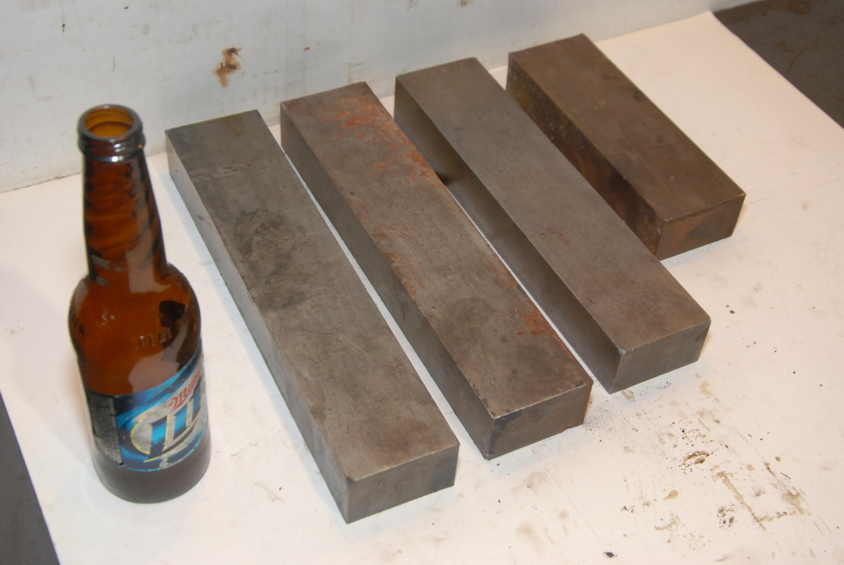 Lot of 4 steel Rectangular Bar for blacksmith anvil,45.4lbs