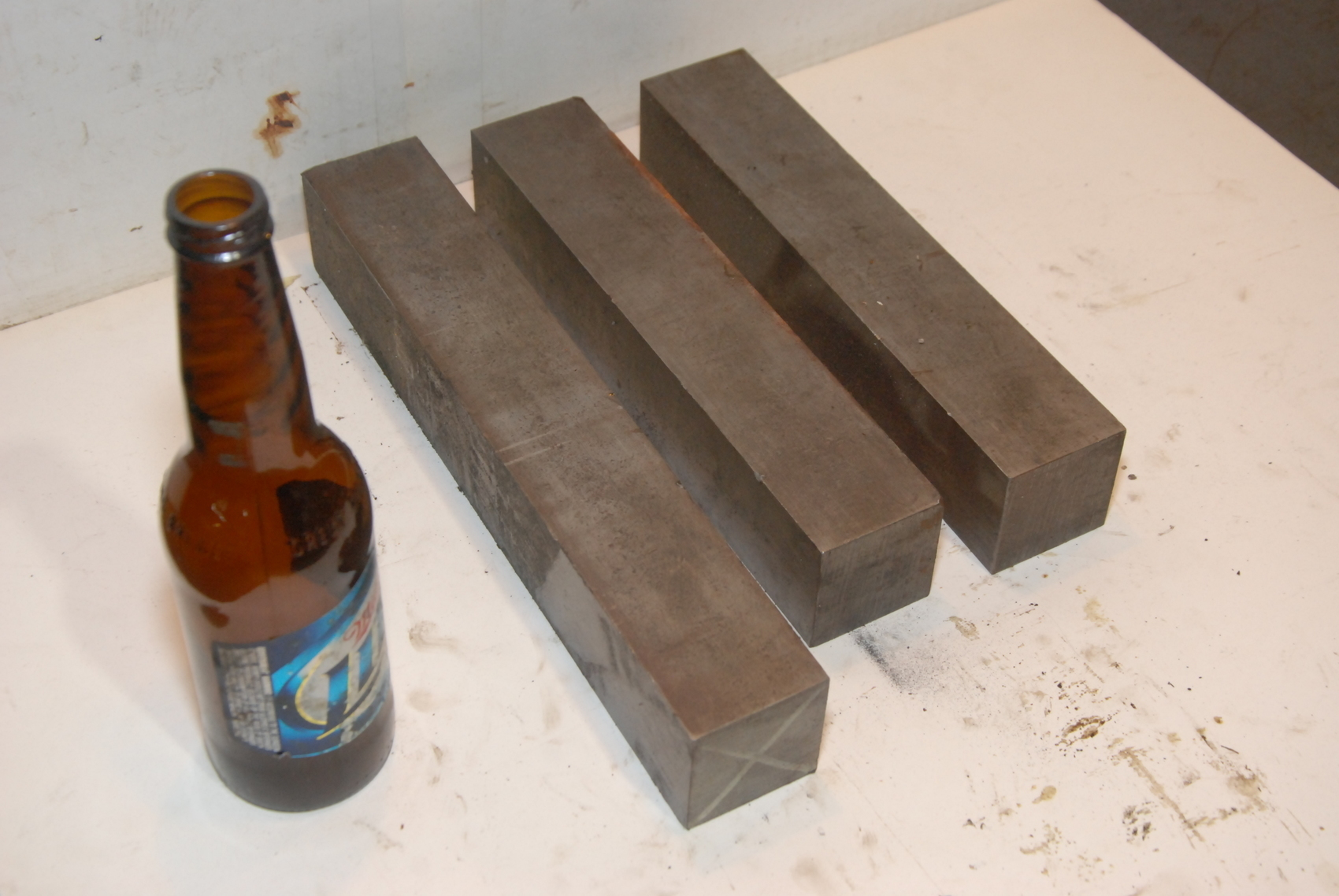 Lot of 3 steel Rectangular Bar for blacksmith anvil,37.8lbs