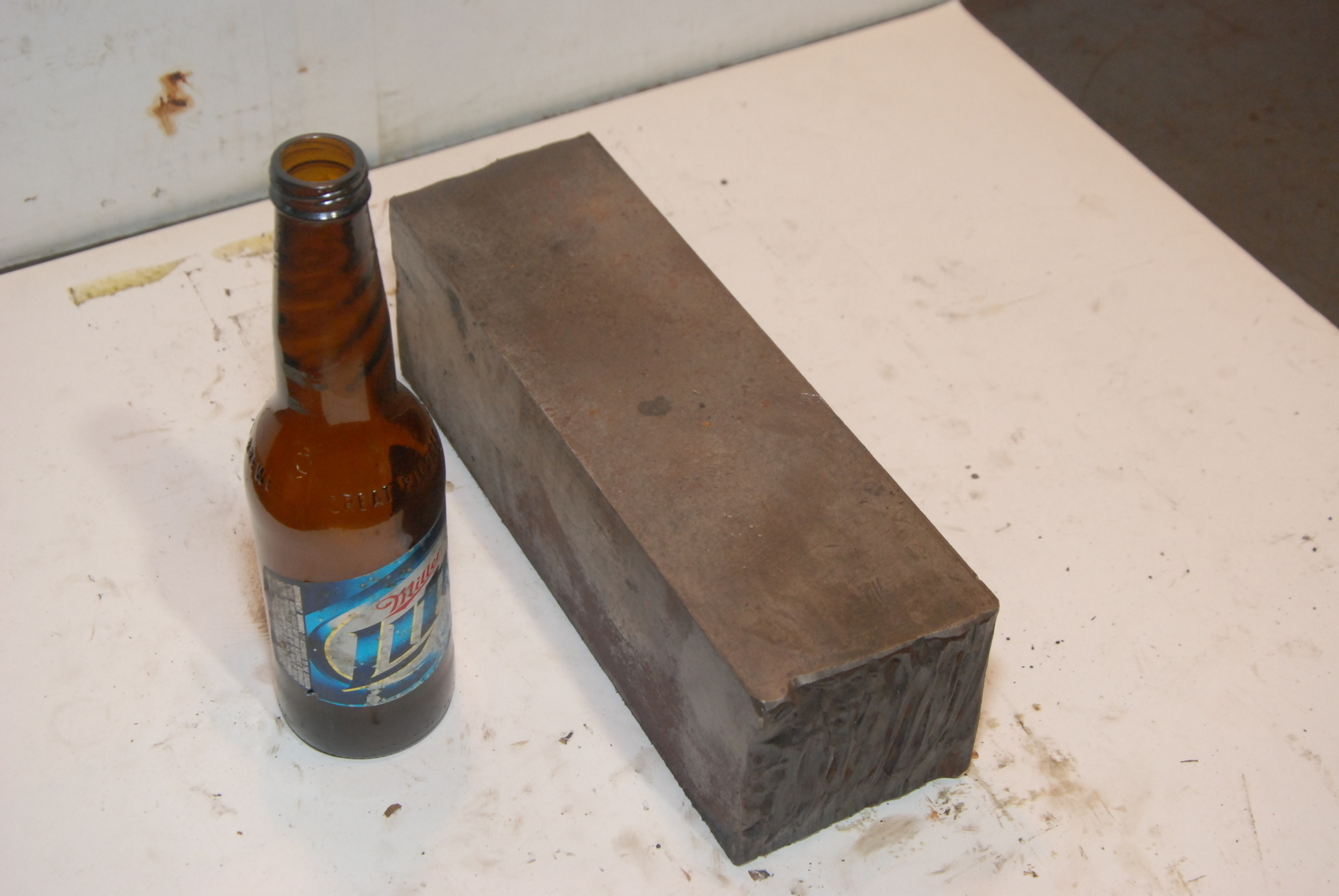 Steel Rectangular Bar for blacksmith anvil,11*3.5*3.5,37lbs