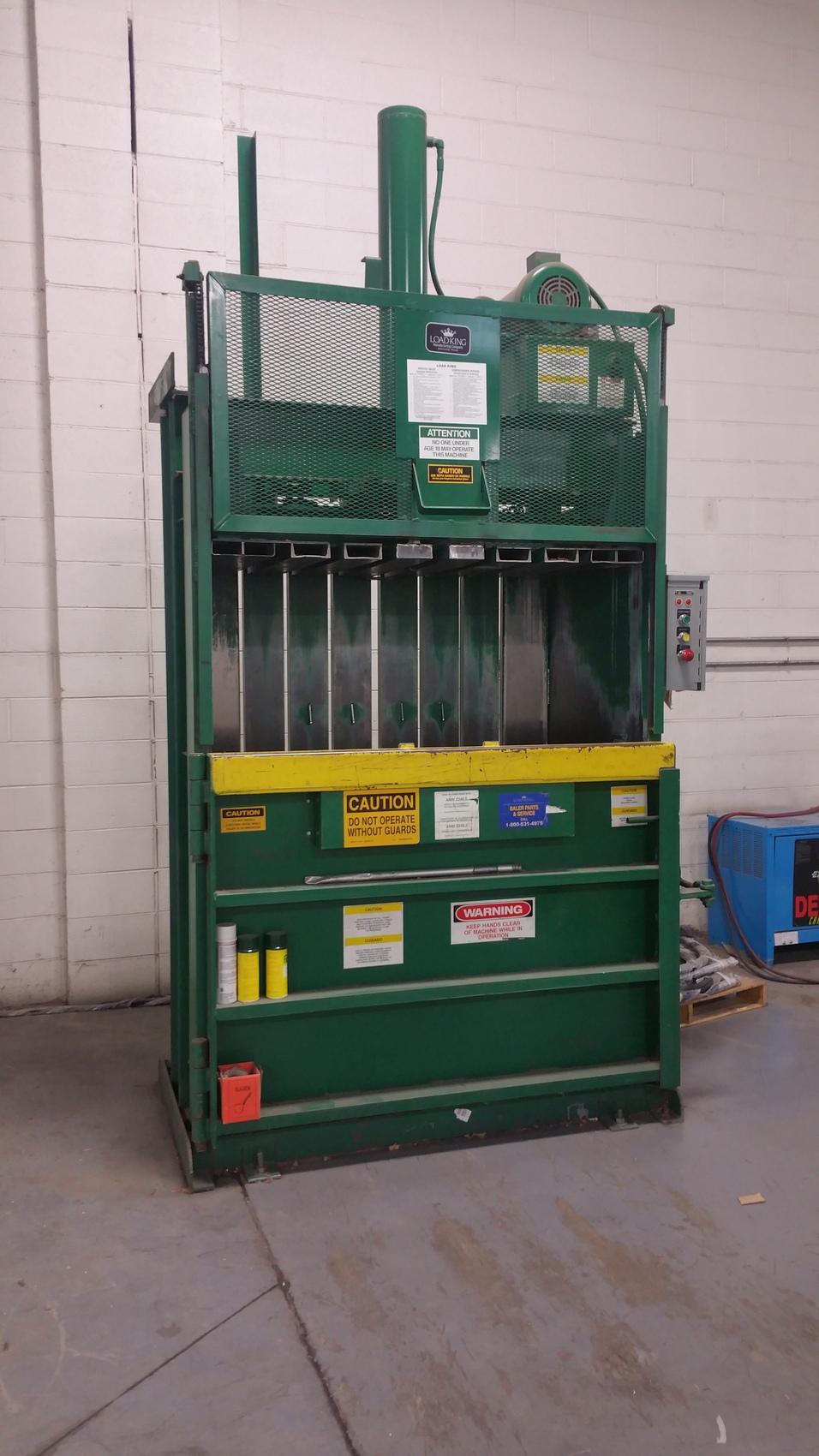 Cardboard Baling Wire : Load king vertical cardboard trash baler plus