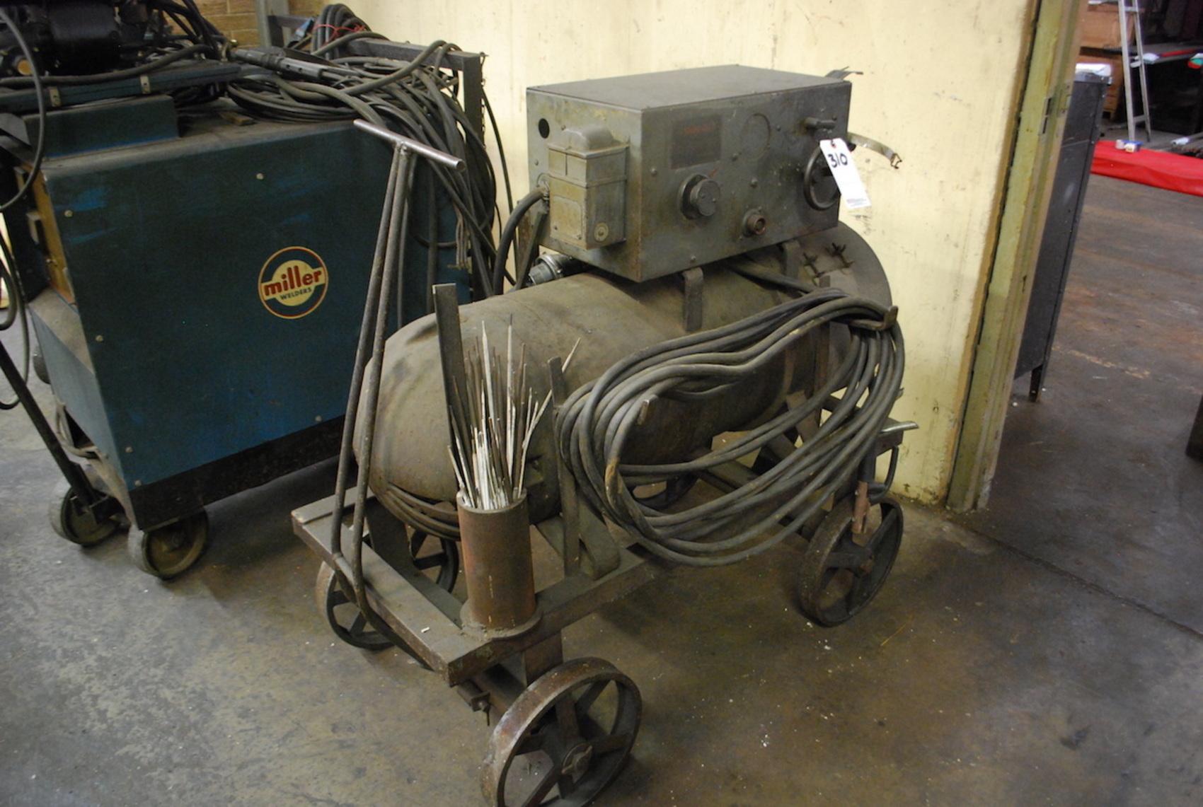 Lincoln Shield Arc Electric Motor Generator Welder 200 Amp